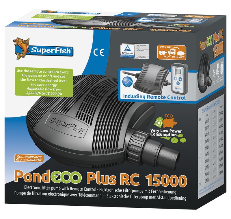 SuperFish  PondEco Plus RC 15000 - 23-130W s dálkovým