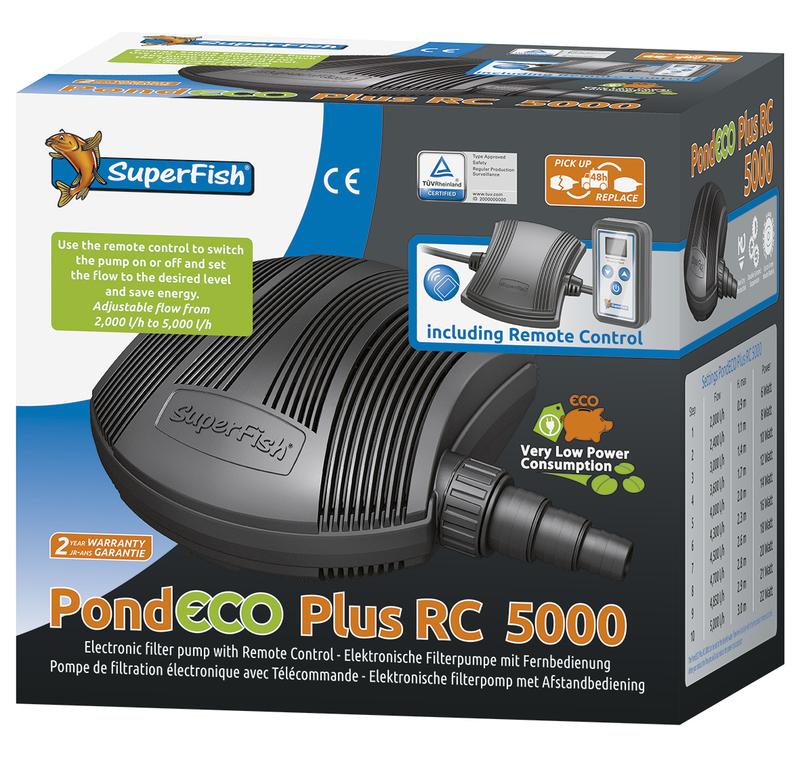 SuperFish POND SF PondEco Plus RC 5000 - 6-22W s dálkovým