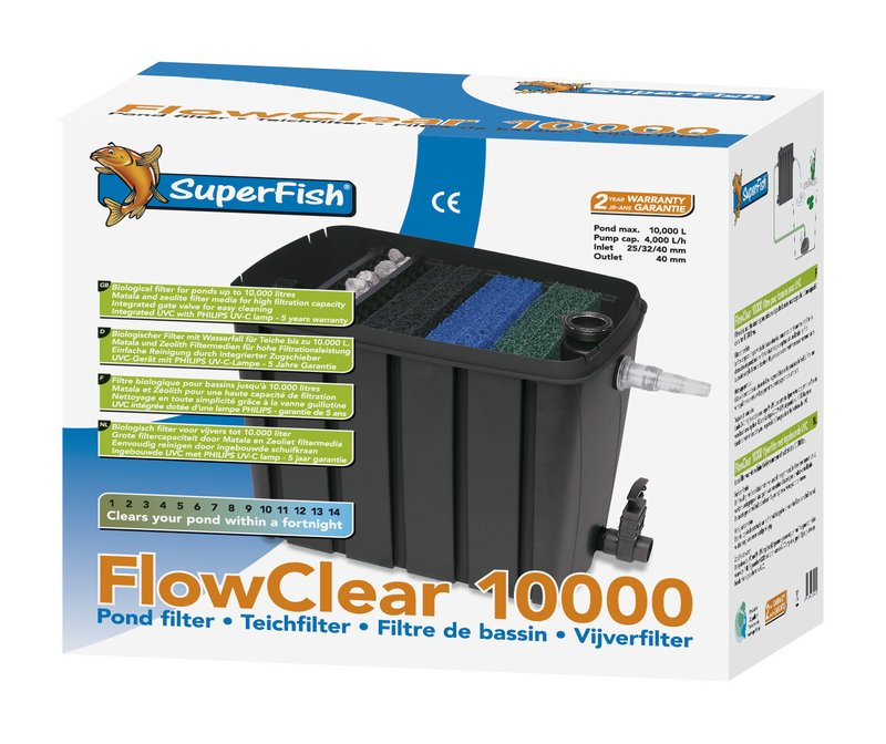 SuperFish POND FLOWCLEAR 10.000 + 11W UVC